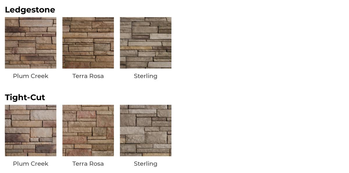 vinyl stone siding color options